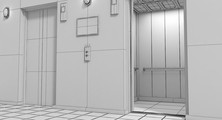 Elevator royalty-free 3d model - Preview no. 8
