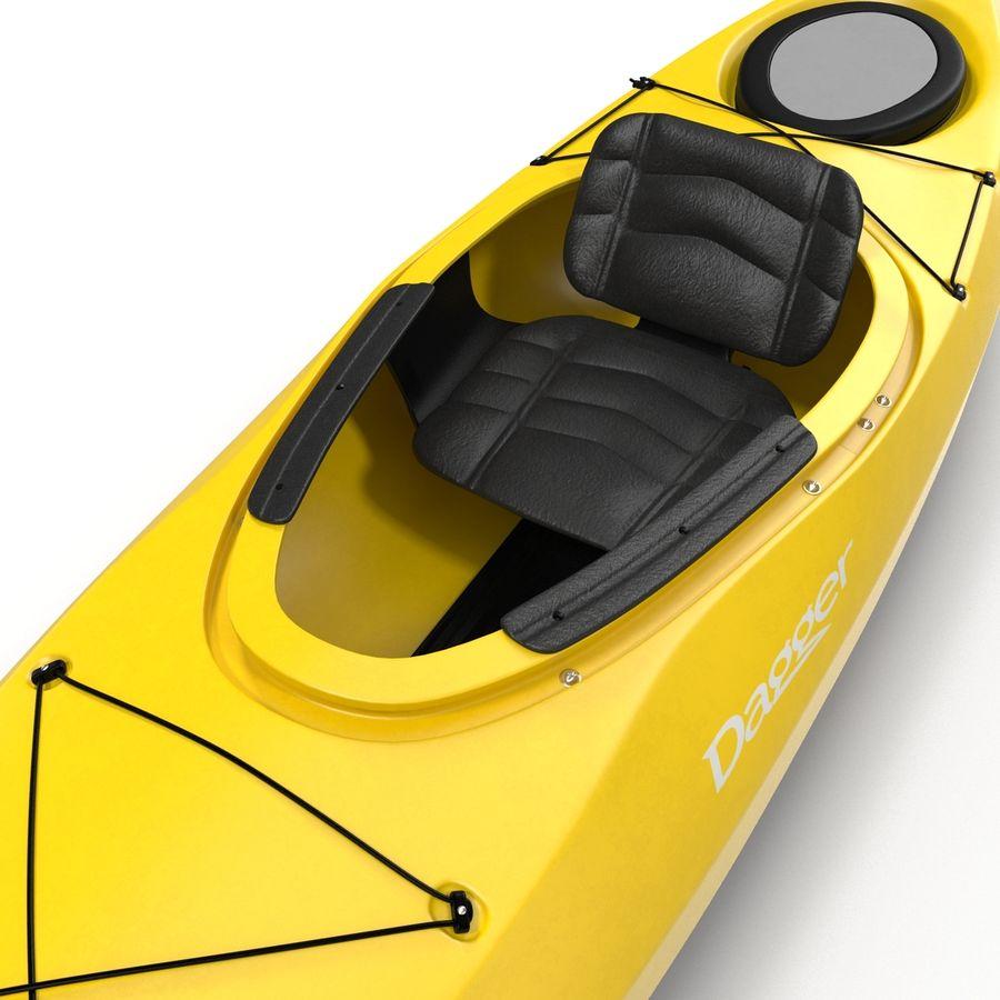 Kayak Yellow 3D Model royalty-free 3d model - Preview no. 10