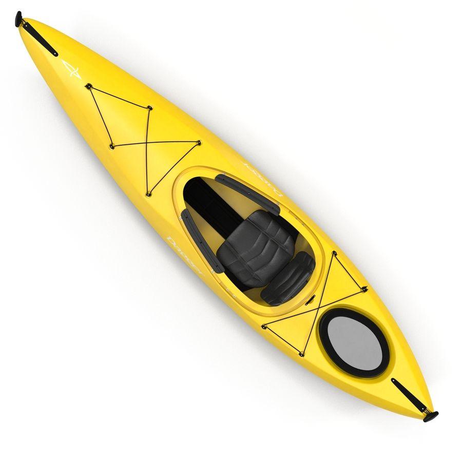 Kayak Yellow 3D Model royalty-free 3d model - Preview no. 7