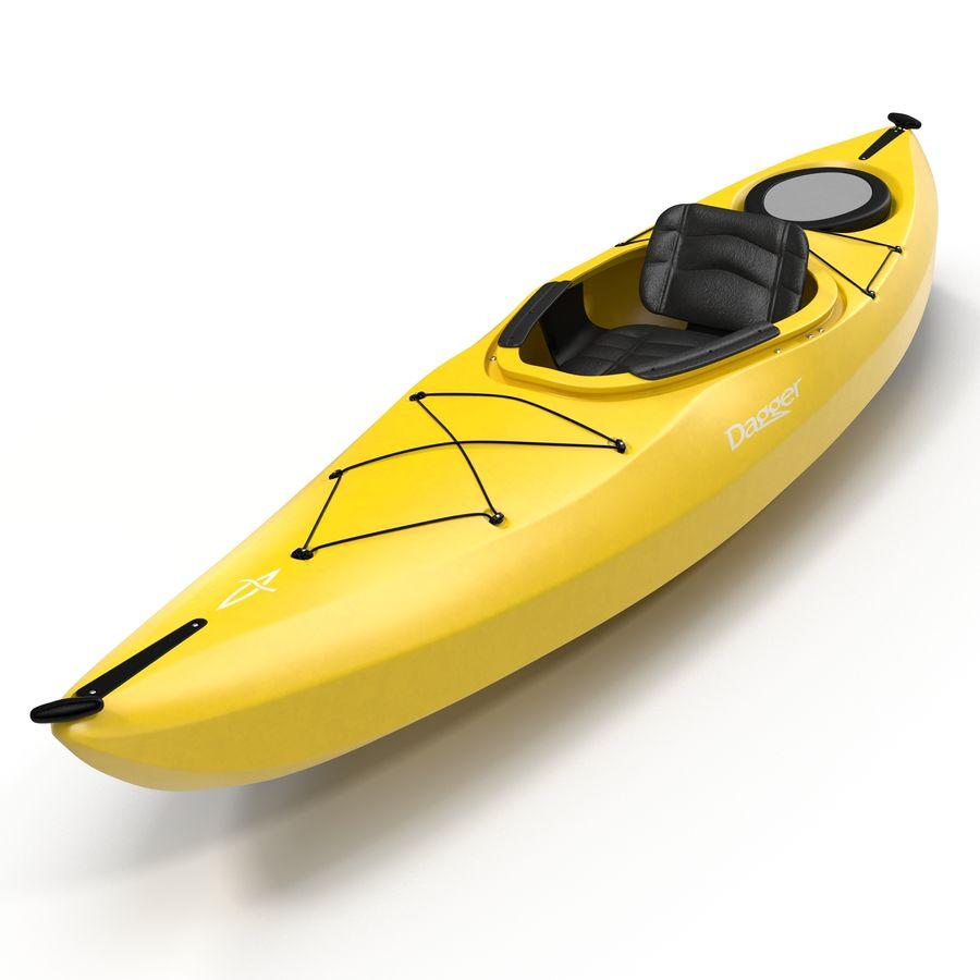 Kayak Yellow 3D Model royalty-free 3d model - Preview no. 2