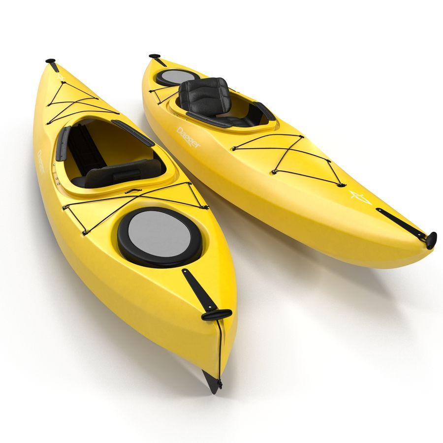 Kayak Yellow 3D Model royalty-free 3d model - Preview no. 3
