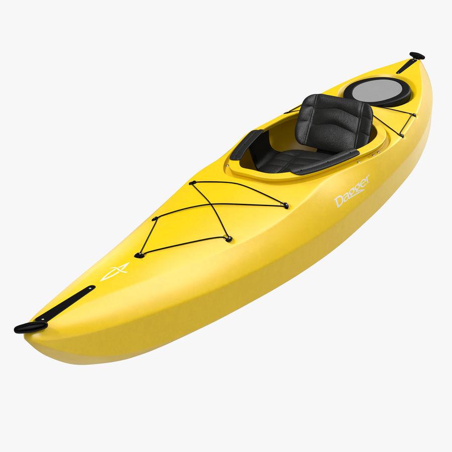 Kayak Yellow 3D Model royalty-free 3d model - Preview no. 1