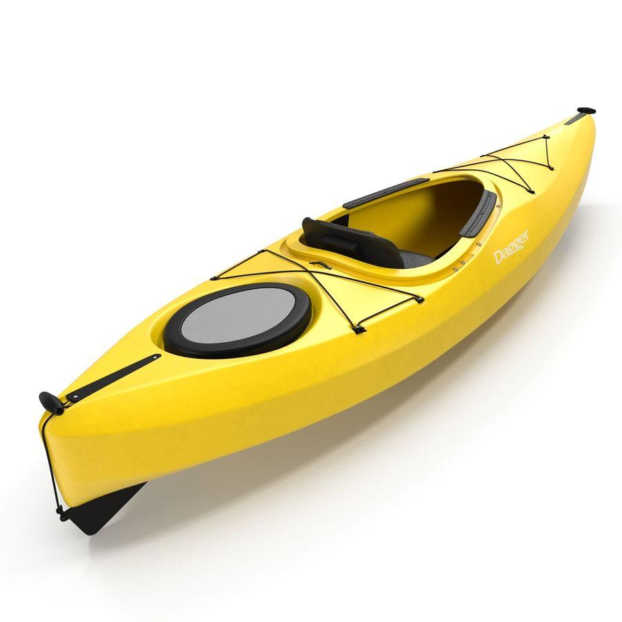 Kayak Yellow 3D Model royalty-free 3d model - Preview no. 9