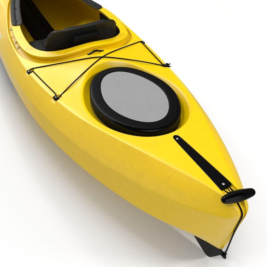 Kayak Yellow 3D Model royalty-free 3d model - Preview no. 11