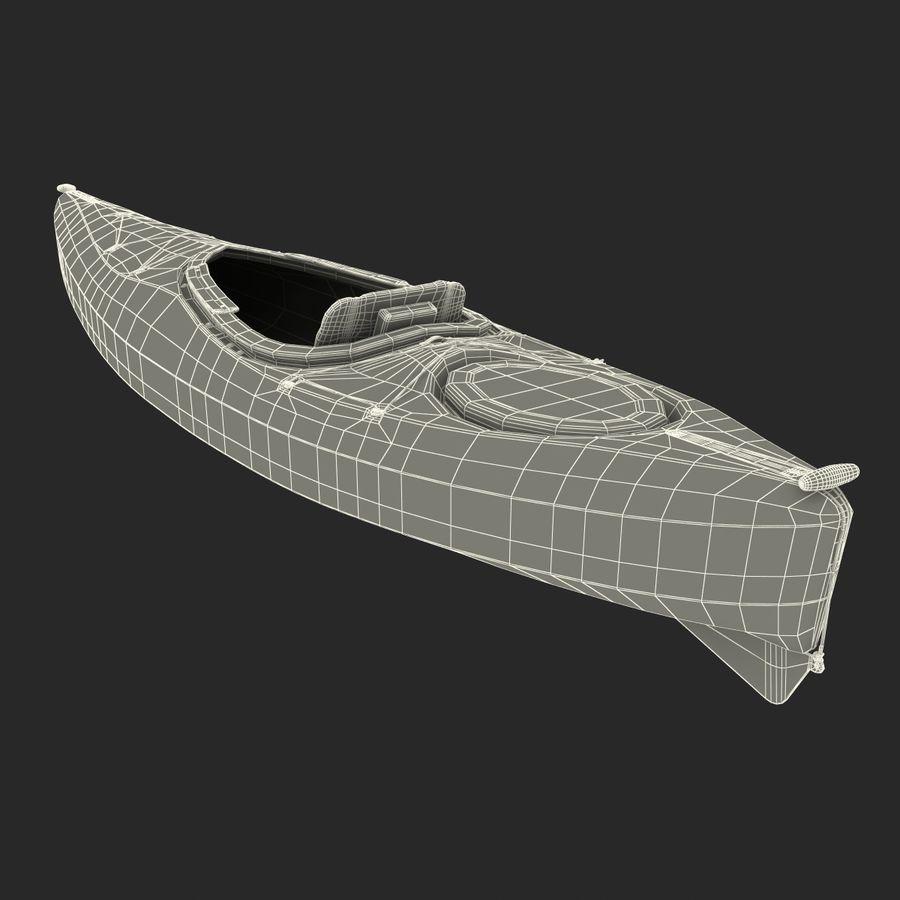Kayak Yellow 3D Model royalty-free 3d model - Preview no. 18