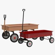 Coleção de modelos 3D de vagões de Childs 3d model