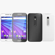 Motorola Moto G 2015 in bianco e nero 3d model