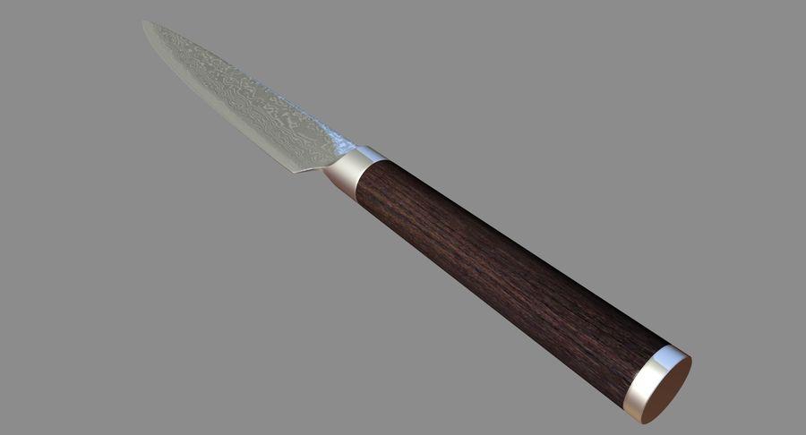 Nóż do sushi royalty-free 3d model - Preview no. 5