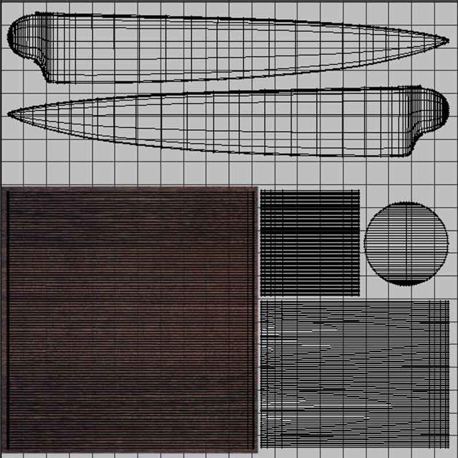Nóż do sushi royalty-free 3d model - Preview no. 13