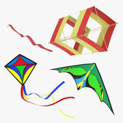 Kites Collection 3d model