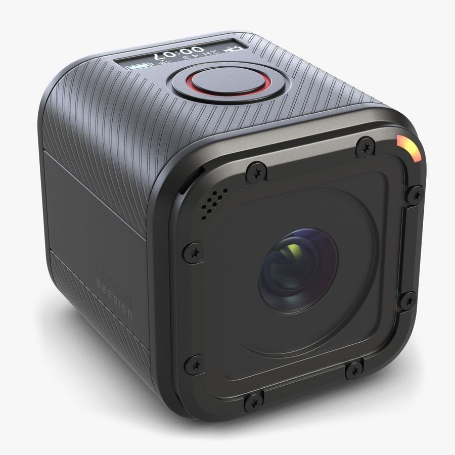 Kamera GoPro Oturumu royalty-free 3d model - Preview no. 1