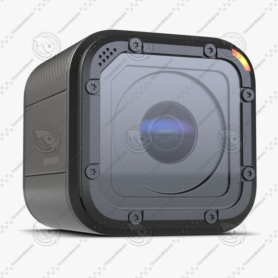 Kamera GoPro Oturumu royalty-free 3d model - Preview no. 3