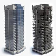 Ruïnes bouwen voor en na 3d model