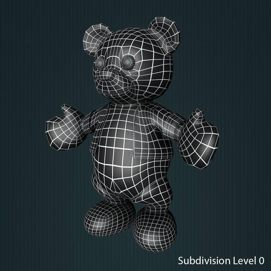 Urso de pelúcia com jaqueta de couro - em pé royalty-free 3d model - Preview no. 11