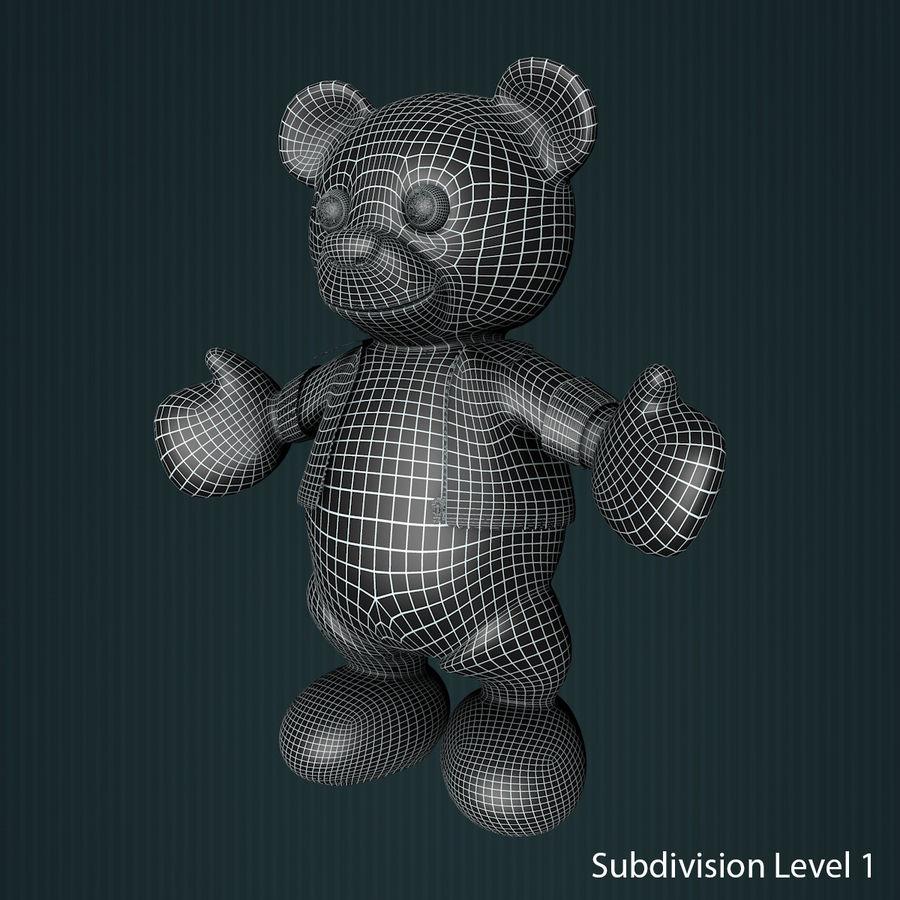 Urso de pelúcia com jaqueta de couro - em pé royalty-free 3d model - Preview no. 12