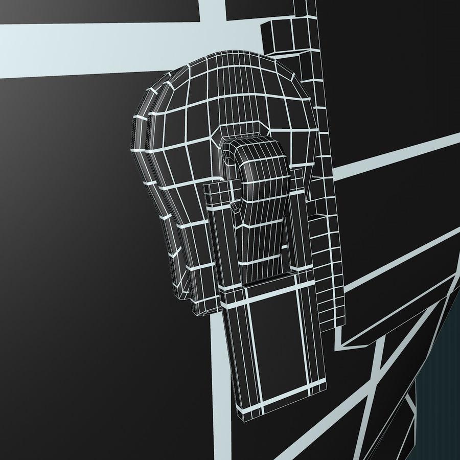 Urso de pelúcia com jaqueta de couro - em pé royalty-free 3d model - Preview no. 18