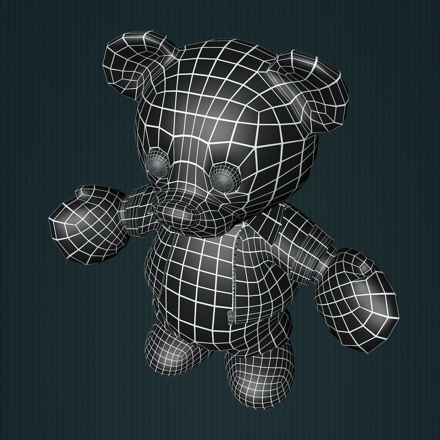 Urso de pelúcia com jaqueta de couro - em pé royalty-free 3d model - Preview no. 14