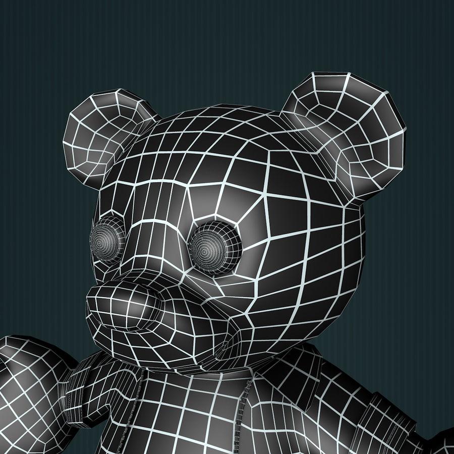 Urso de pelúcia com jaqueta de couro - em pé royalty-free 3d model - Preview no. 13