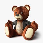 Deri Ceketli Teddy Bear - Oturmuş 3d model