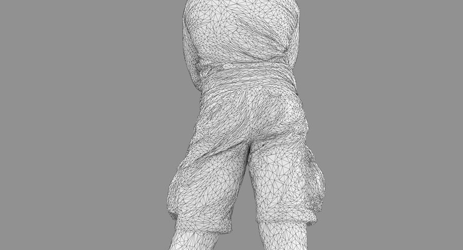 Casual Atlético Masculino royalty-free 3d model - Preview no. 29