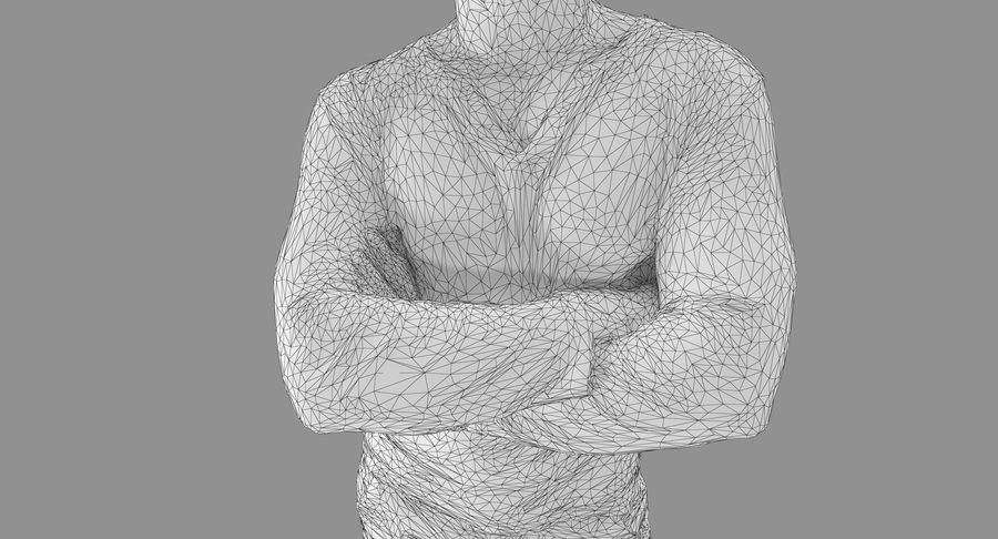 Casual Atlético Masculino royalty-free 3d model - Preview no. 7