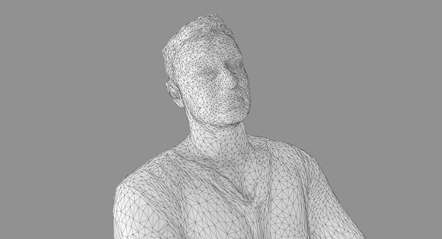 Casual Atlético Masculino royalty-free 3d model - Preview no. 17