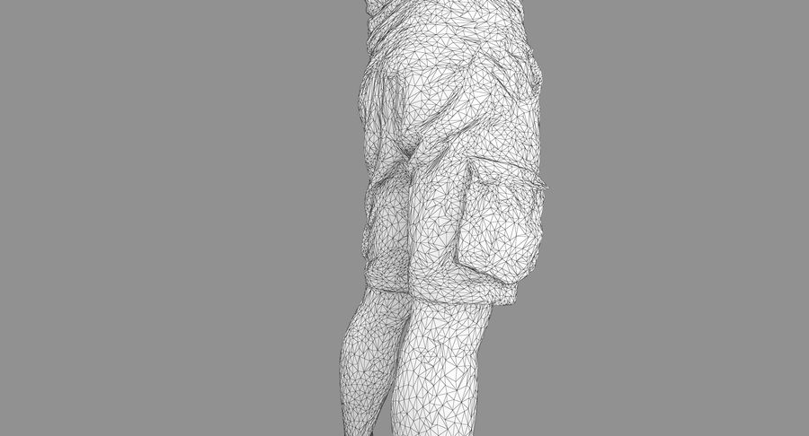 Casual Atlético Masculino royalty-free 3d model - Preview no. 23