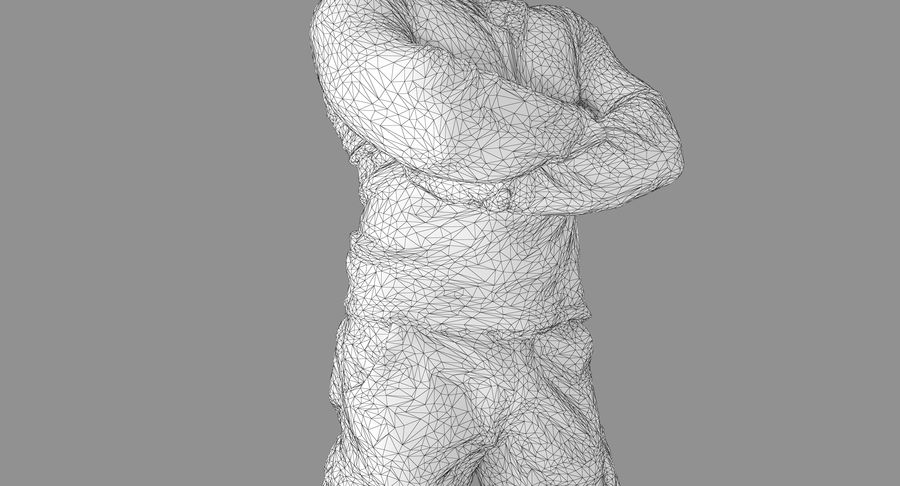Casual Atlético Masculino royalty-free 3d model - Preview no. 13