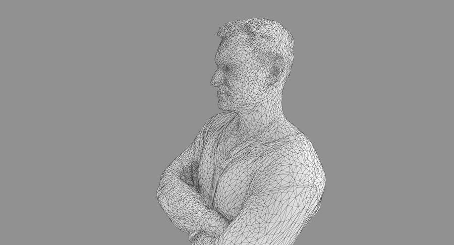 Casual Atlético Masculino royalty-free 3d model - Preview no. 35