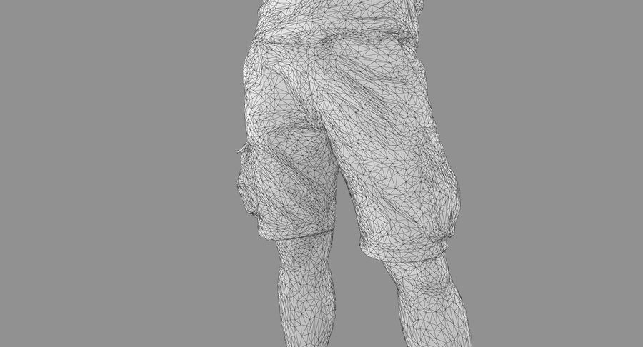 Casual Atlético Masculino royalty-free 3d model - Preview no. 39