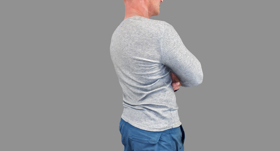 Casual Atlético Masculino royalty-free 3d model - Preview no. 22
