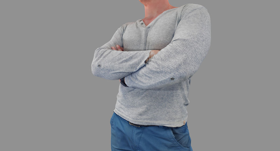 Casual Atlético Masculino royalty-free 3d model - Preview no. 36
