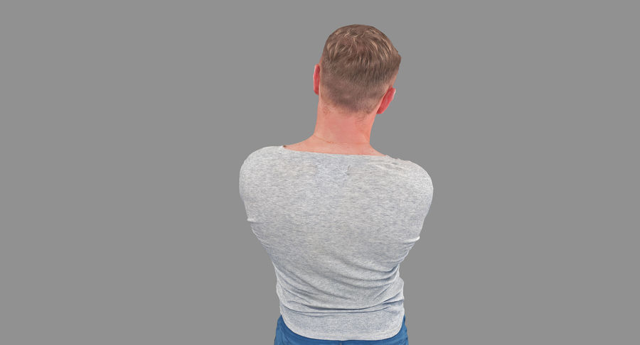 Casual Atlético Masculino royalty-free 3d model - Preview no. 6