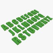 Alphabet Impact Font 3d model