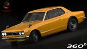 닛산 스카이 라인 2000 GT-R 1971 3d model