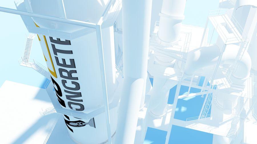 コンクリート工場-工業用 royalty-free 3d model - Preview no. 5