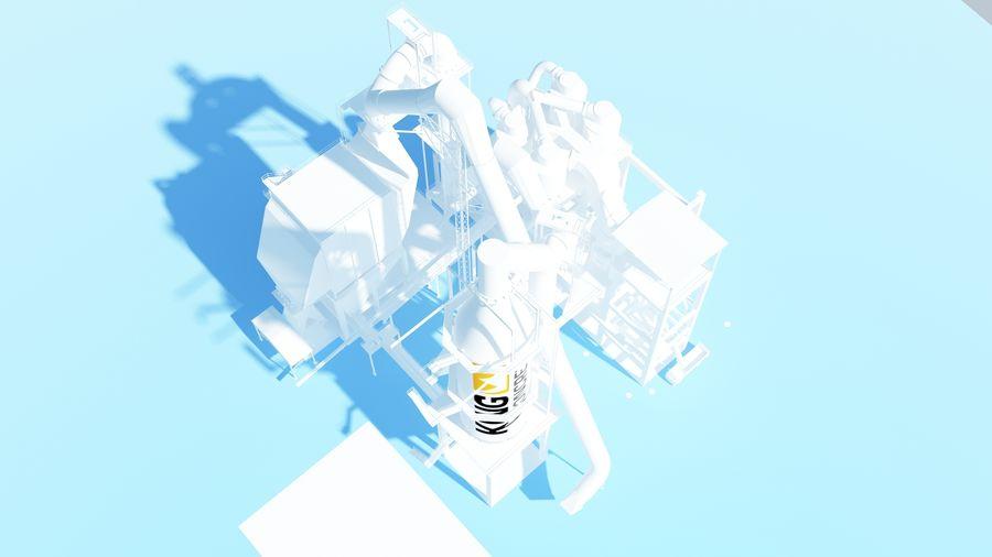 コンクリート工場-工業用 royalty-free 3d model - Preview no. 4