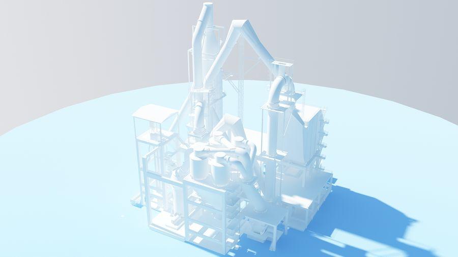 コンクリート工場-工業用 royalty-free 3d model - Preview no. 2