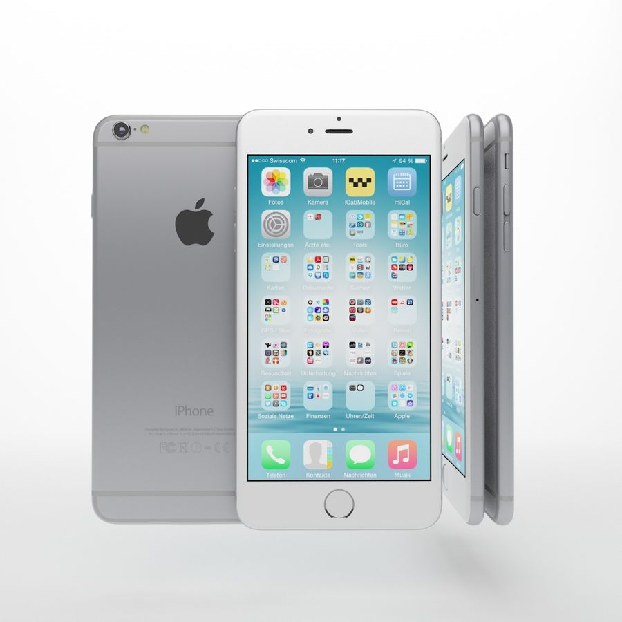 Apple iPhone och Apple Ipad royalty-free 3d model - Preview no. 7