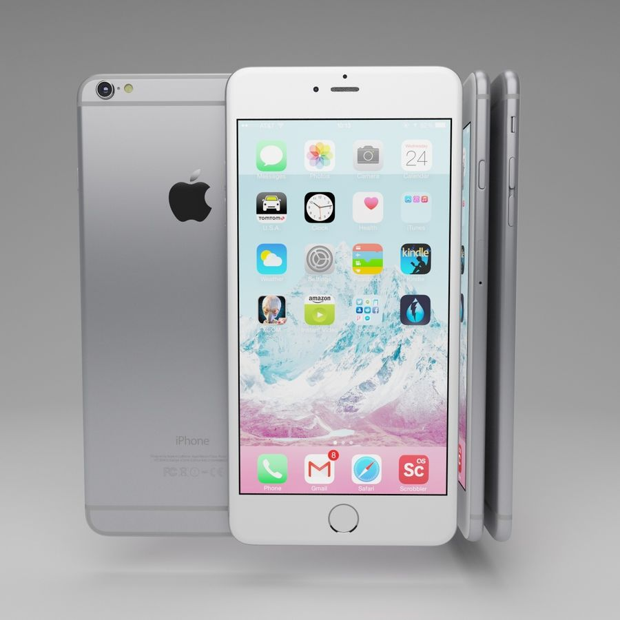 Apple iPhone och Apple Ipad royalty-free 3d model - Preview no. 11