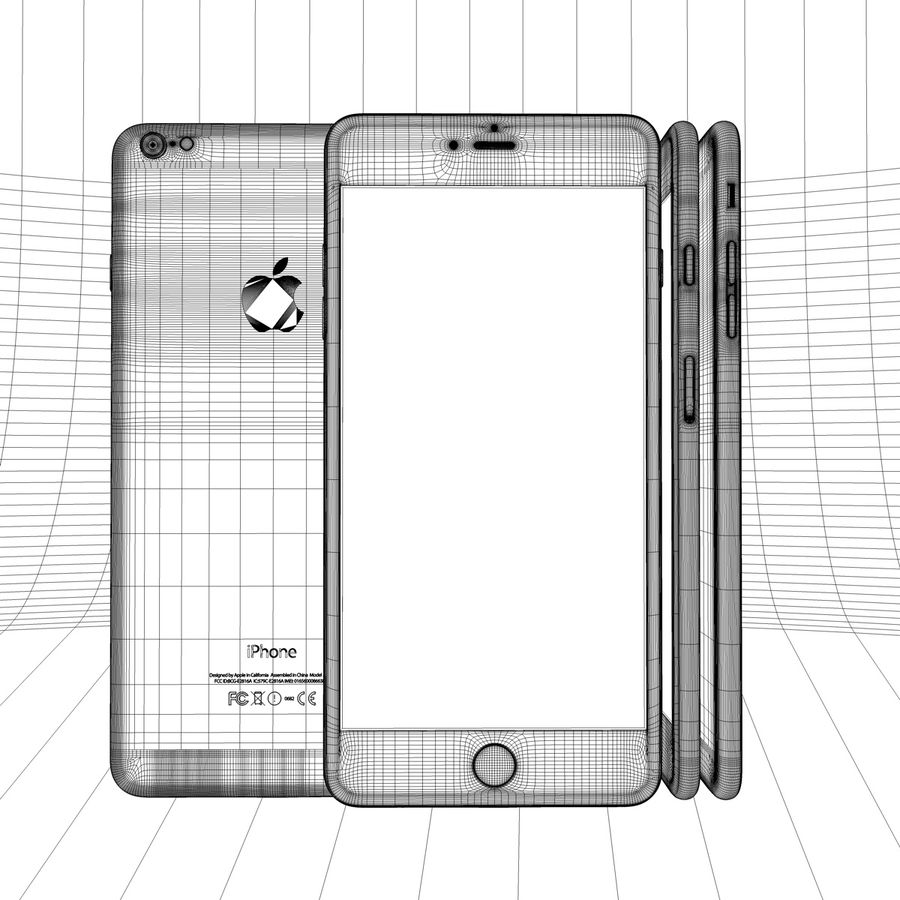 Apple iPhone och Apple Ipad royalty-free 3d model - Preview no. 27
