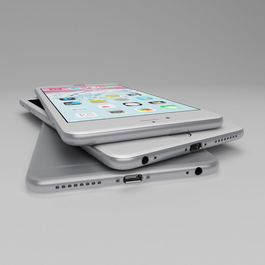 Apple iPhone och Apple Ipad royalty-free 3d model - Preview no. 12