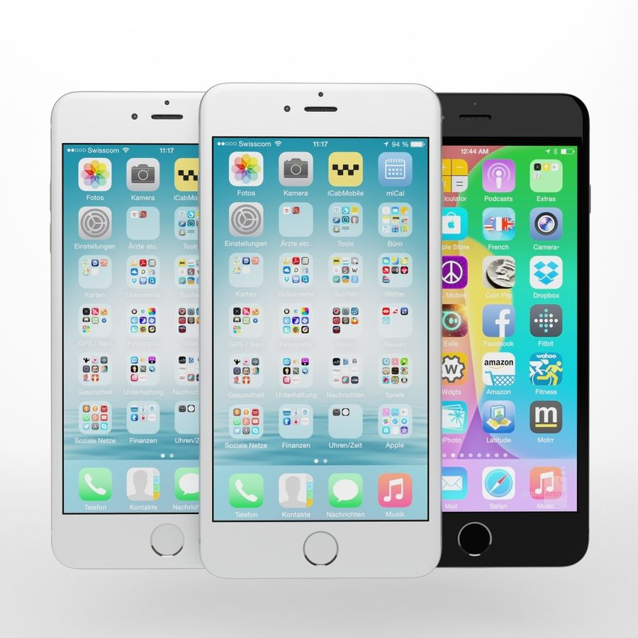 Apple iPhone och Apple Ipad royalty-free 3d model - Preview no. 4