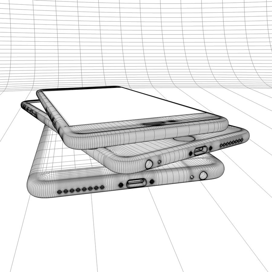 Apple iPhone och Apple Ipad royalty-free 3d model - Preview no. 30