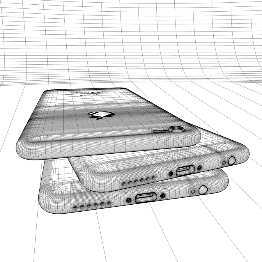 Apple iPhone och Apple Ipad royalty-free 3d model - Preview no. 23