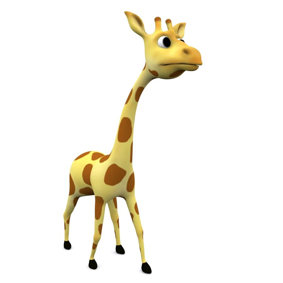 Girafe de dessin animé truqué royalty-free 3d model - Preview no. 1