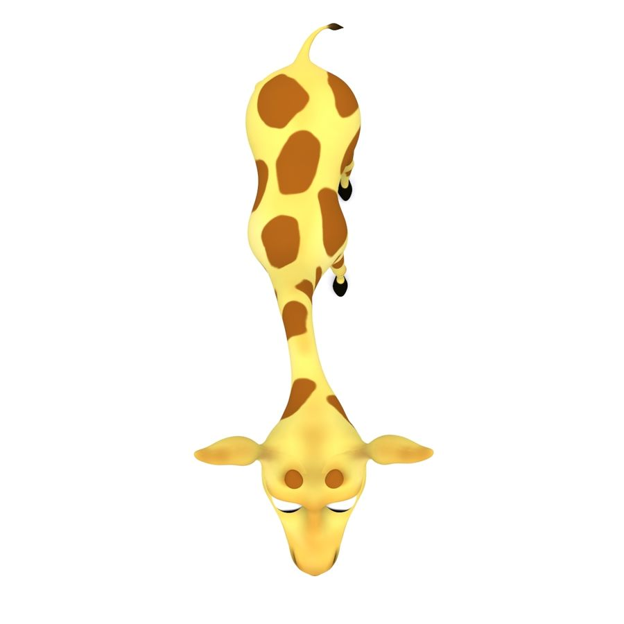Girafe de dessin animé truqué royalty-free 3d model - Preview no. 6