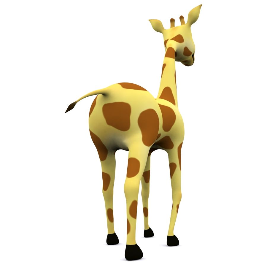 Girafe de dessin animé truqué royalty-free 3d model - Preview no. 5