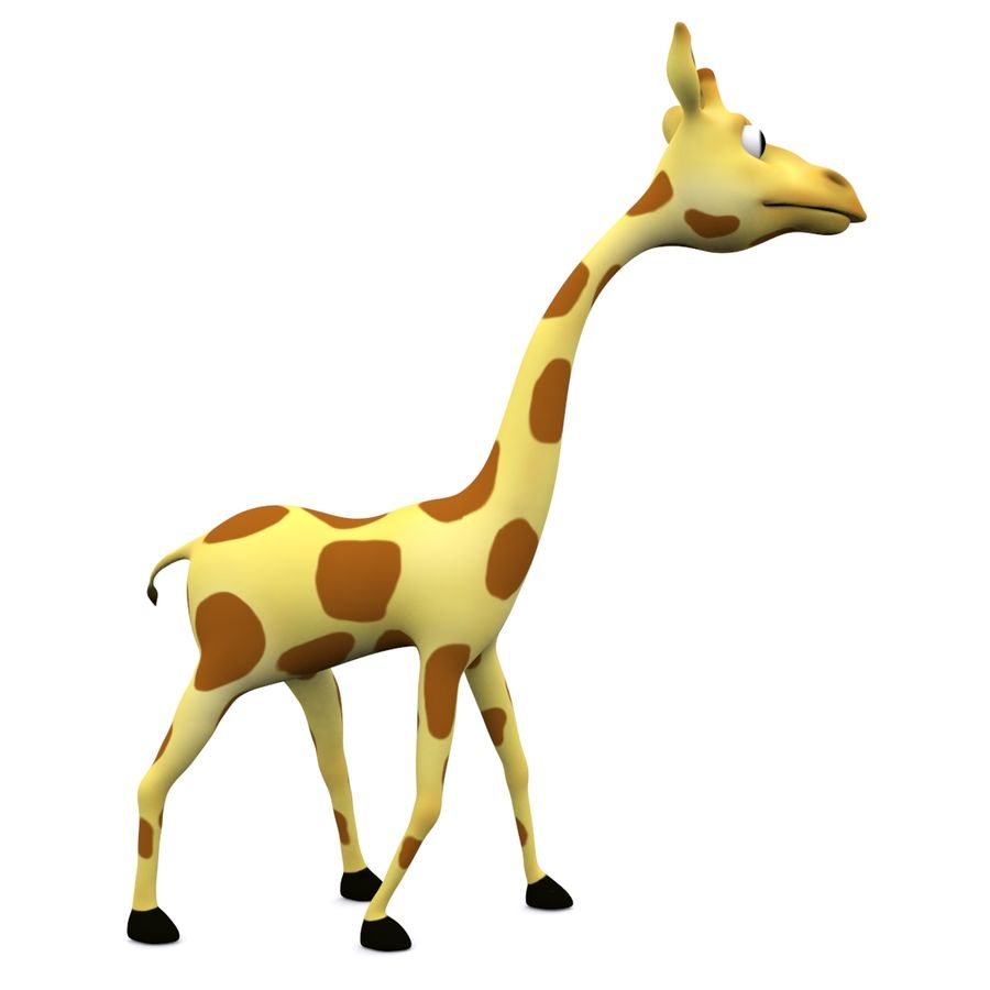 Girafe de dessin animé truqué royalty-free 3d model - Preview no. 2