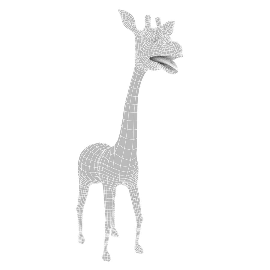 Girafe de dessin animé truqué royalty-free 3d model - Preview no. 8